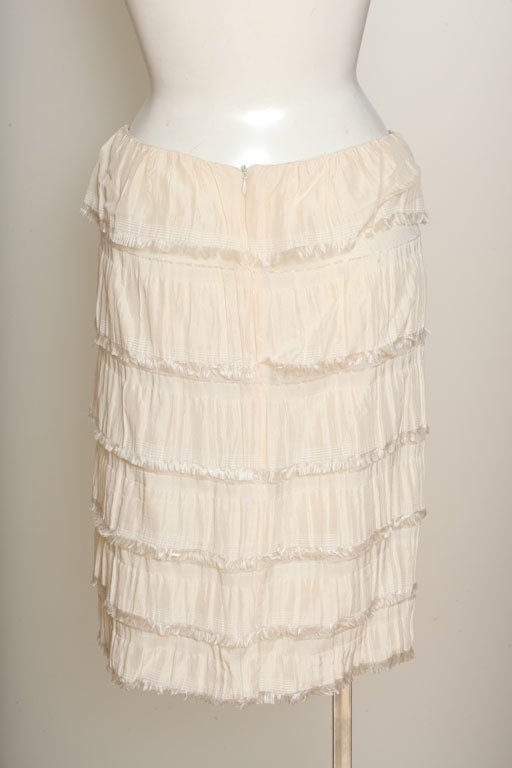Rodarte Silk Tiered Skirt 5