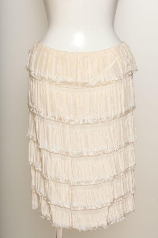 Rodarte Silk Tiered Skirt 2