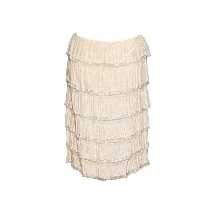 Rodarte Silk Tiered Skirt 1