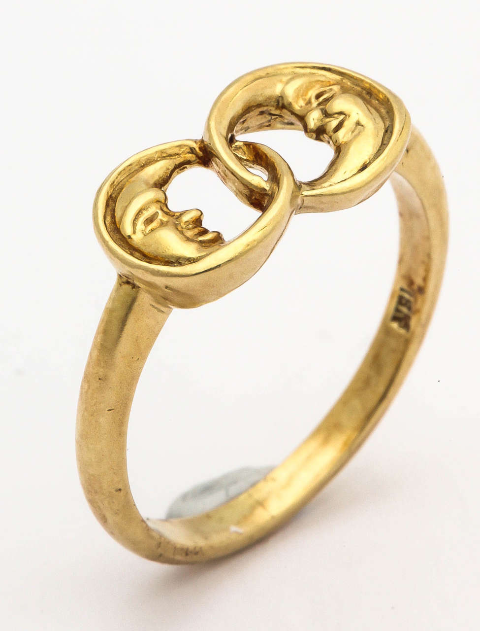 Gold Two Man-in-the-Moon Ring 3
