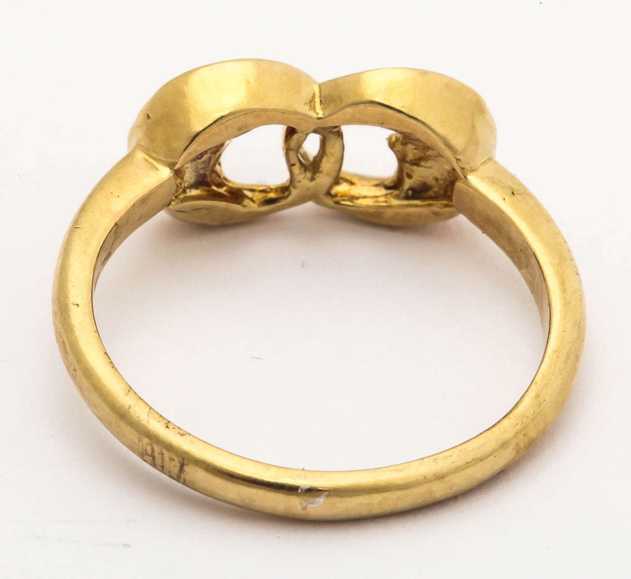 Gold Two Man-in-the-Moon Ring 5