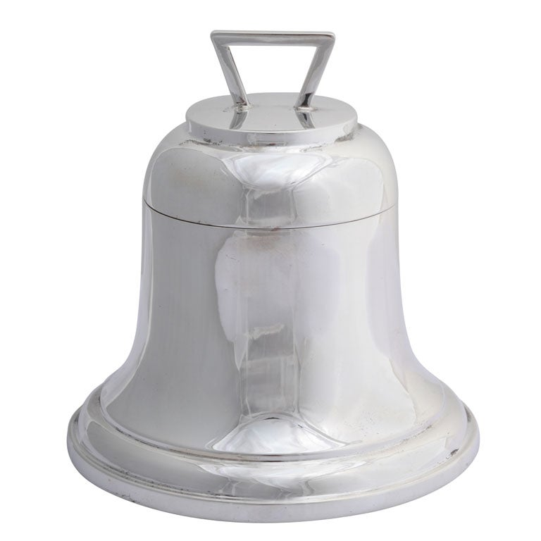"""Sterling Silver """"Bell-Form"""" Inkwell For Sale"""