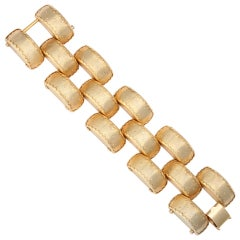 "Large Link ""Gold"" Bracelet, Costume Jewelry"