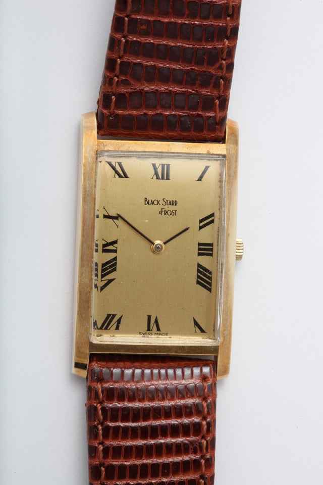 In running condition and keeping time, this 14kt gold tank style wristwatch is waiting for the person who hankers for its beautiful, clean look. When your watch collection is without a working battery, it is reassuring to have a watch to wind and