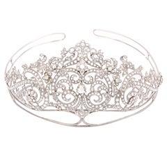 Exquisite Rose Cut Diamond Tiara