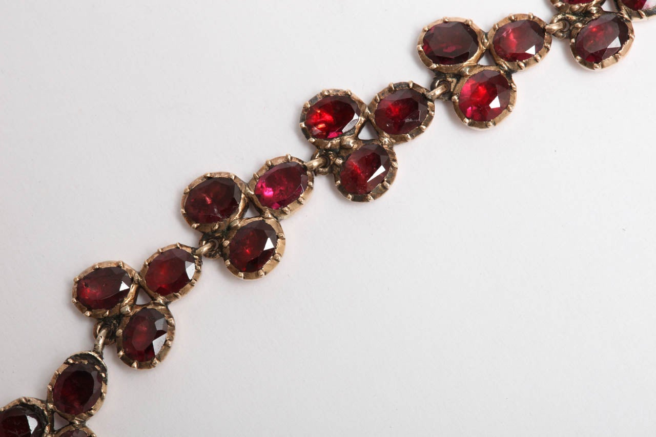 Brilliant Georgian Garnet Necklace, circa 1820 For Sale 2