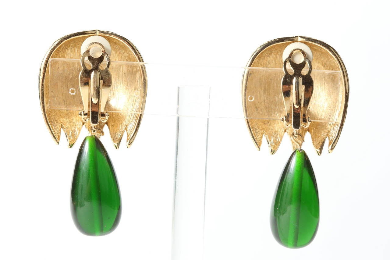 Women's Pair of Givenchy Drop Ear Clips For Sale