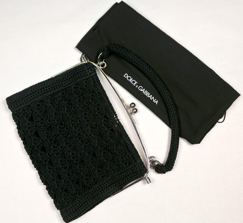 Crochet Handbags in Black And White Black Crochet Handbag