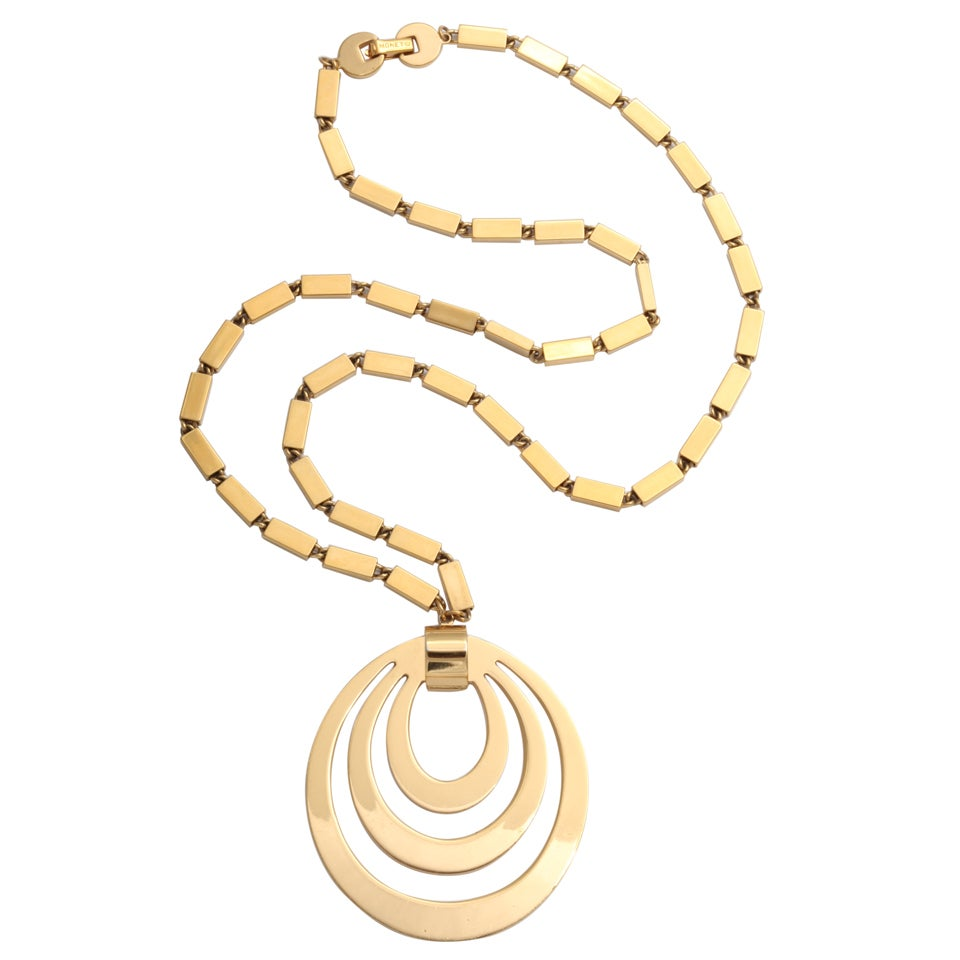 Monet Goldtone Pendant Necklace