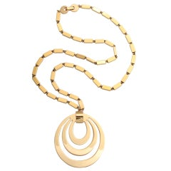 Monet Goldtone Pendant Necklace, Costume Jewelry