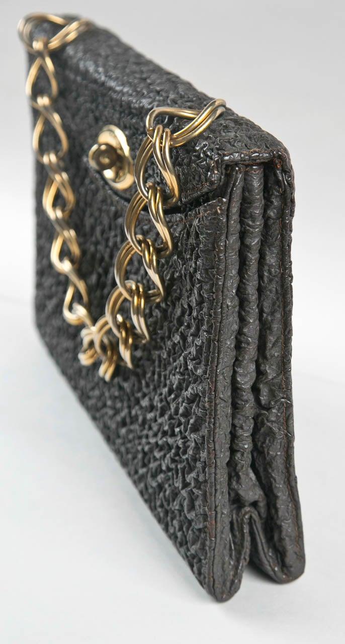 Jacomo Paris Wrinkled Leather Handbag 7