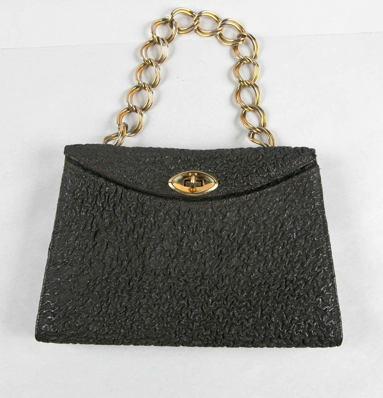 Jacomo Paris Wrinkled Leather Handbag 3