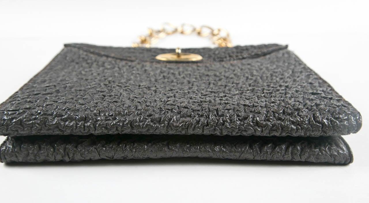 Jacomo Paris Wrinkled Leather Handbag 4