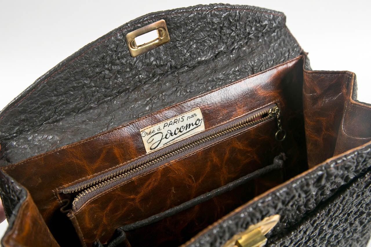 Jacomo Paris Wrinkled Leather Handbag 5