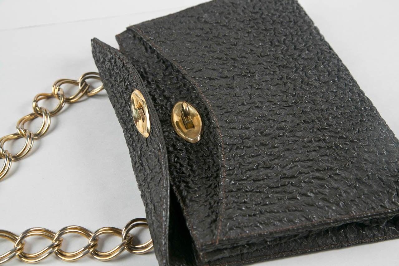 Jacomo Paris Wrinkled Leather Handbag 6