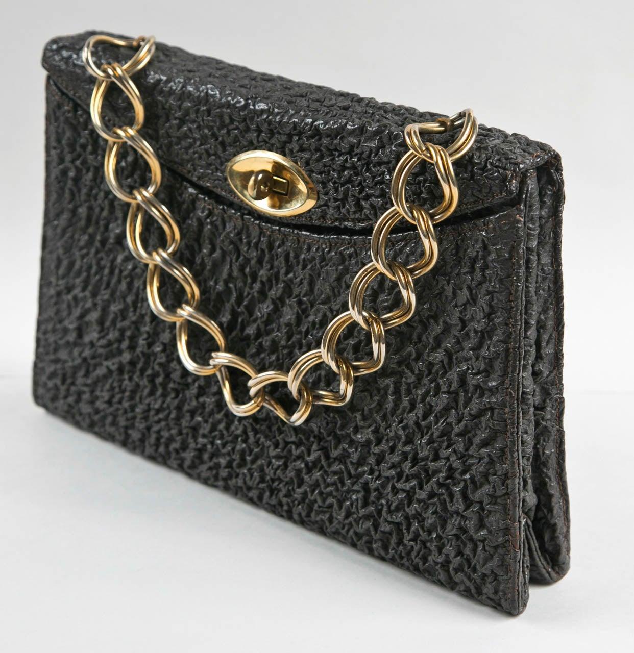 Jacomo Paris Wrinkled Leather Handbag 2