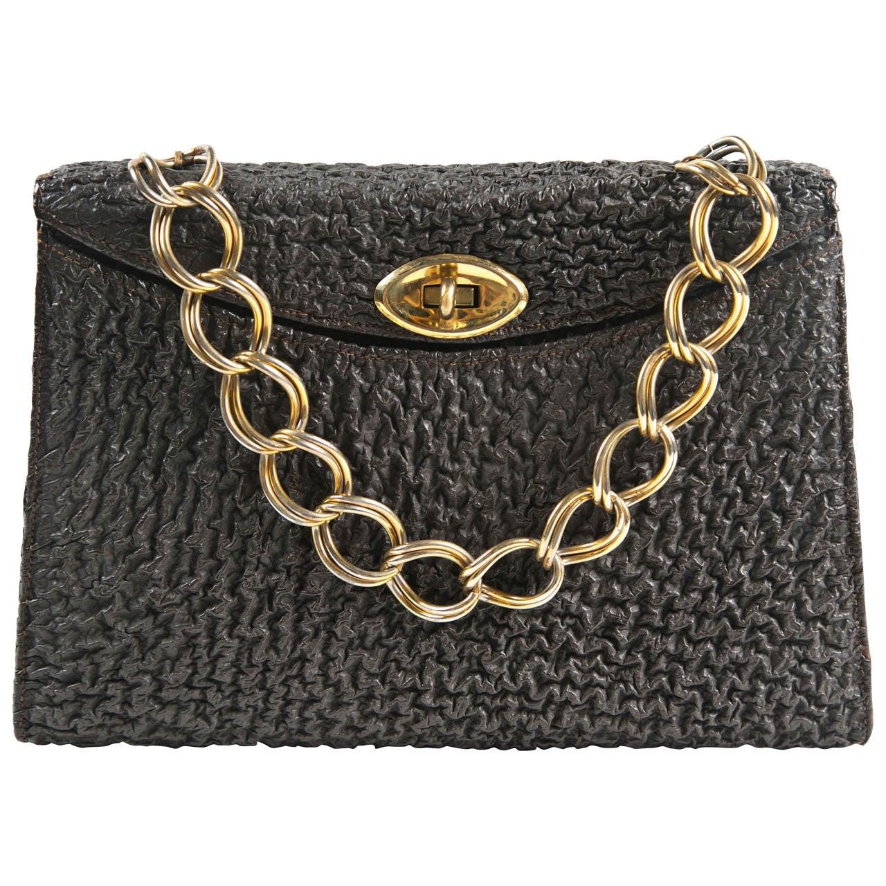 Jacomo Paris Wrinkled Leather Handbag 1