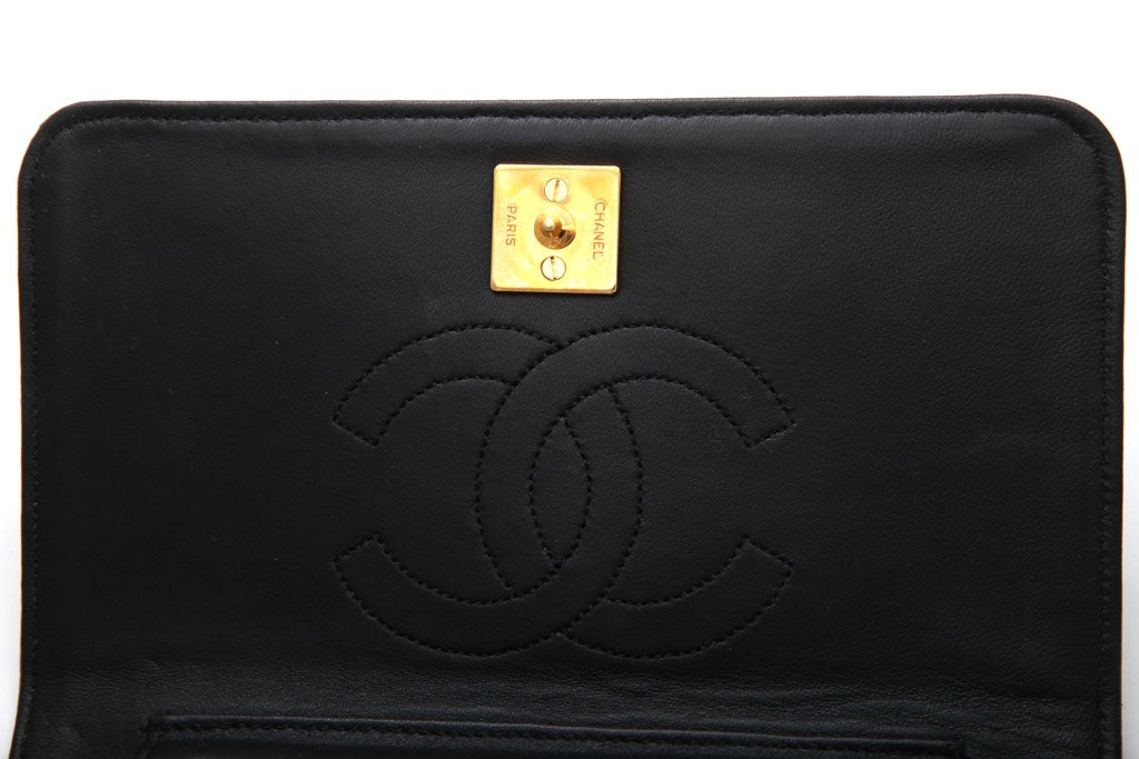 VINTAGE CHANEL BLACK LIZARD BAG / CLUTCH 7