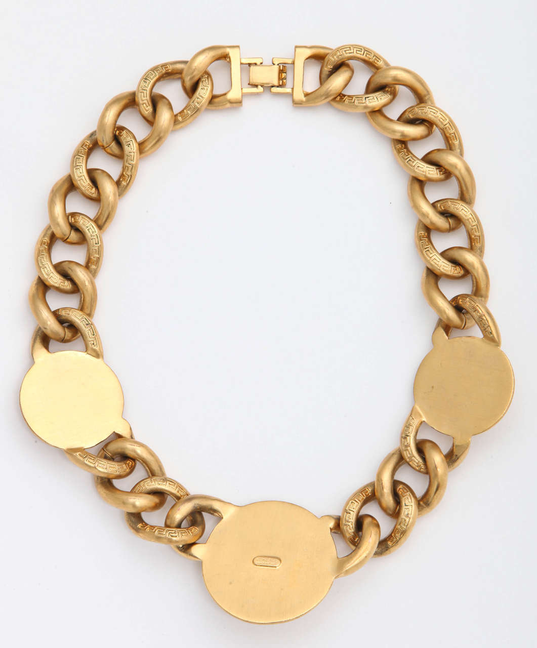 Versace 3 Medusa Gold Chain Necklace 4