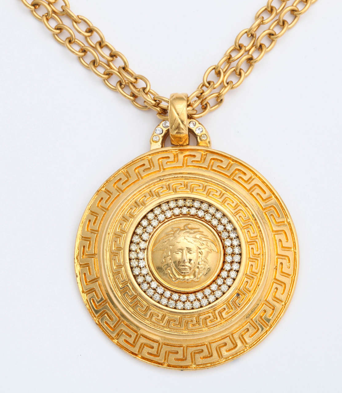 pendant dominique cohen large diamond necklace lyst jewelry gallery product gold medallion