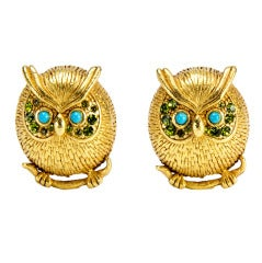 Askew London 60'S Owl Clip on Earrings