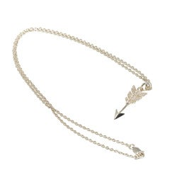 Jade Jagger Diamond Arrow Pendant Necklace with Chain