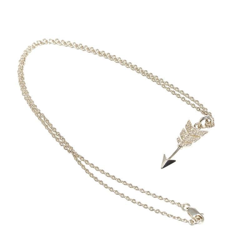 Jade Jagger Diamond Arrow Pendant Necklace with Chain 1