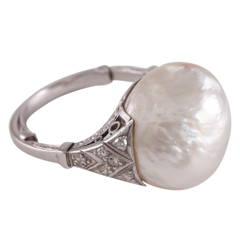 An art deco natural baroque pearl ring at 1stdibs for Deco baroque