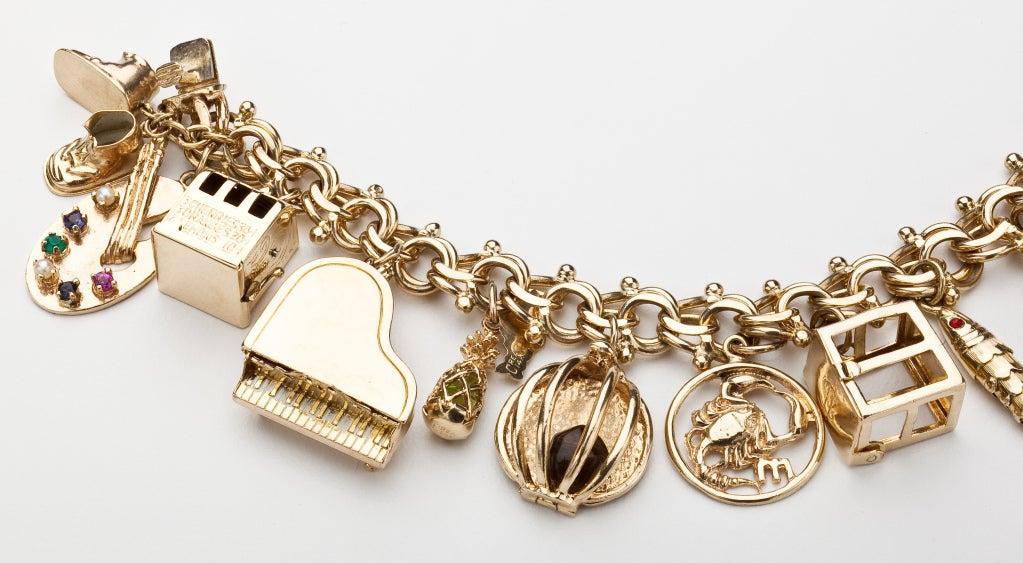 gold charm bracelet at 1stdibs