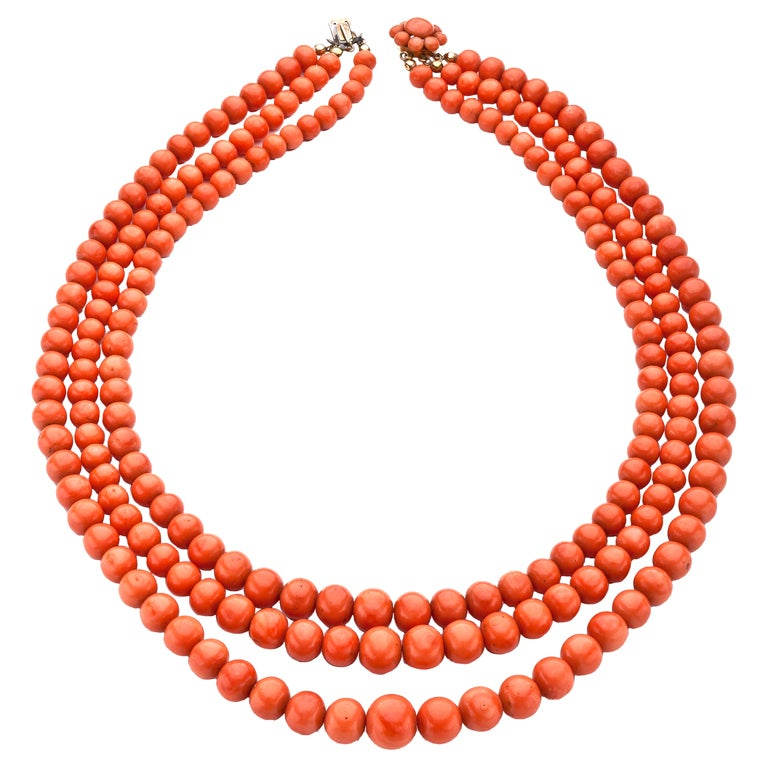 Antique Coral Necklace At 1stdibs