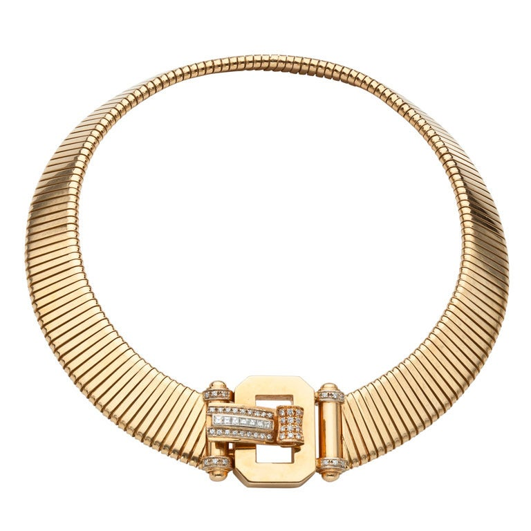 italian gold necklace at 1stdibs