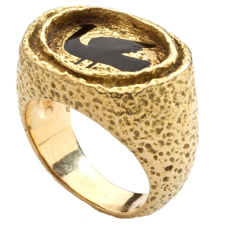 georges braque gold and enamel ring at 1stdibs
