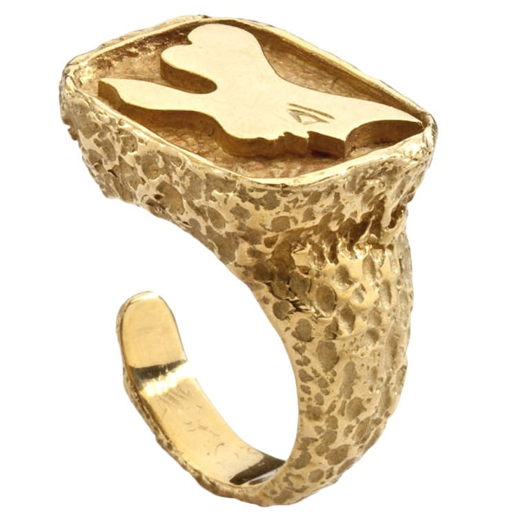 GEORGES BRAQUE Gold Ring 1960's