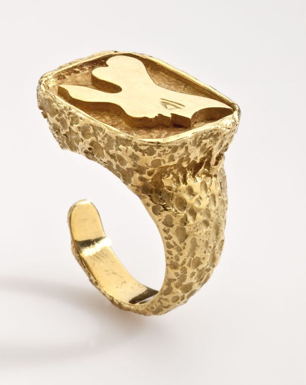 GEORGES BRAQUE Gold Ring 1960's image 2