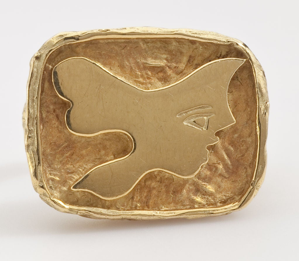 GEORGES BRAQUE Gold Ring 1960's image 3