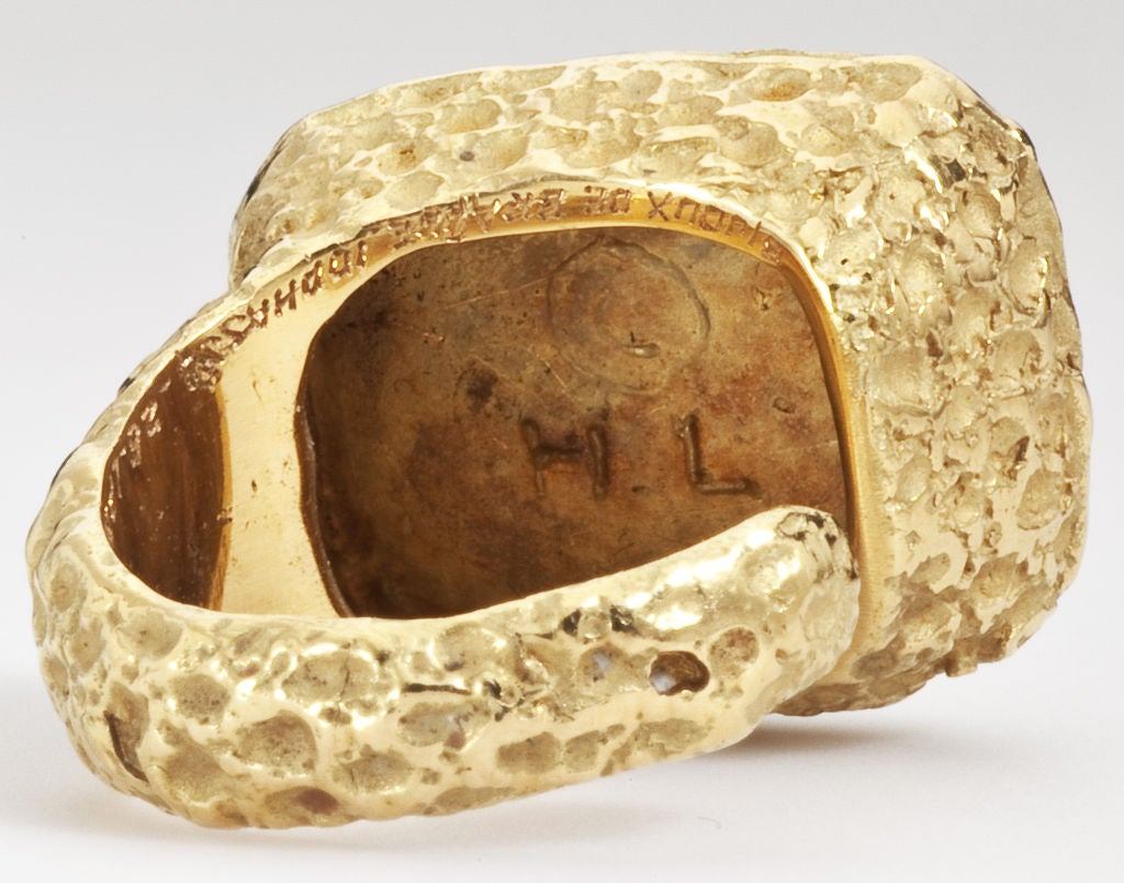 GEORGES BRAQUE Gold Ring 1960's image 4