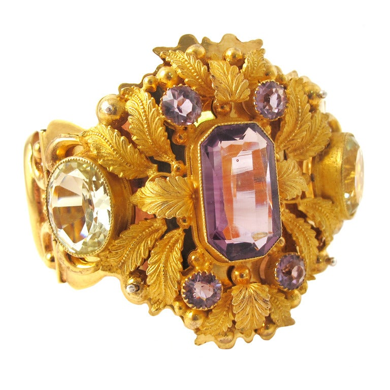 Regency Era Paste Gilded Metal Bracelet At 1stdibs