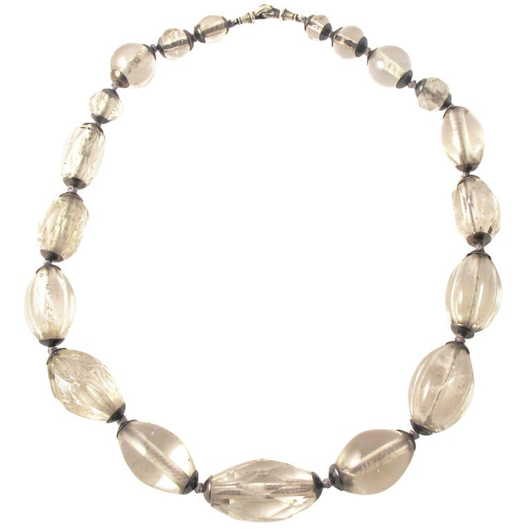 Antique Rock Crystal Bead Necklace At 1stdibs