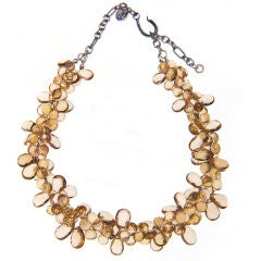 Deborah Liebman Champagne Citrine and Sterling Silver Necklace