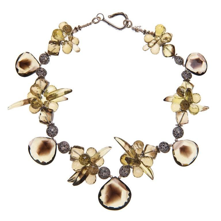 Deborah Liebman Bio Lemon Quartz and Lemon Quartz Sterling Silver Necklace