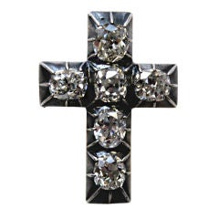 Silver on Gold, 19th century Diamond Cross