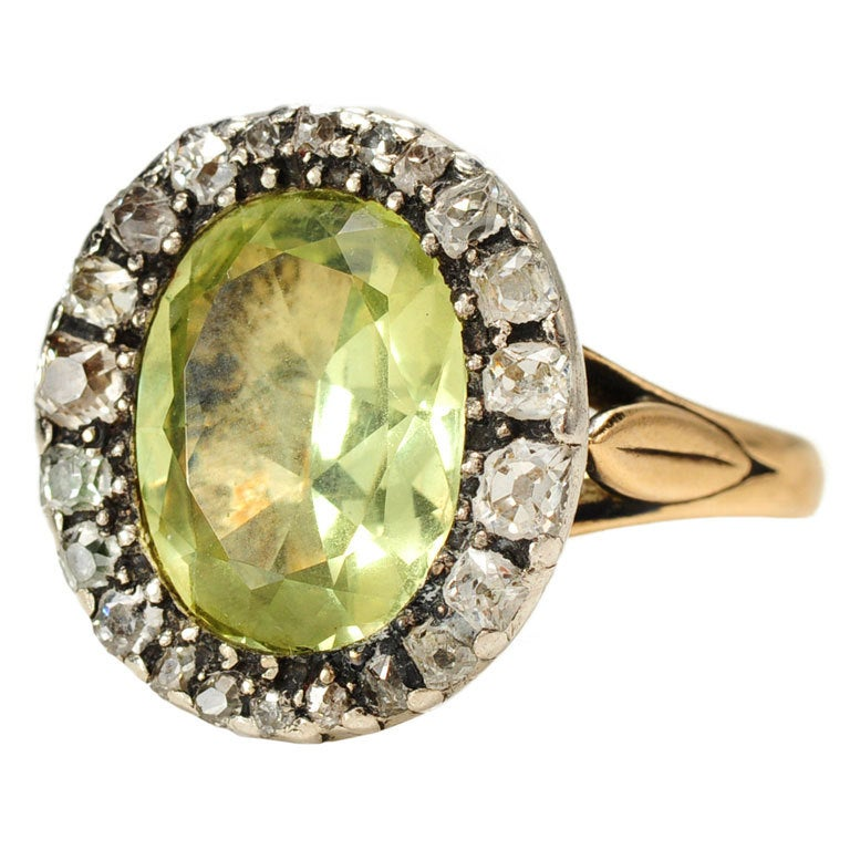 Georgian Goddess Chrysoberyl Diamond Ring At 1stdibs
