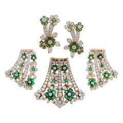 Tiffany & Co. Diamond Emerald Suite