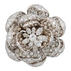 Harry Winston ''Rose of England'' Diamond Brooch