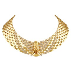Cartier Gold Diamond Eagle Necklace