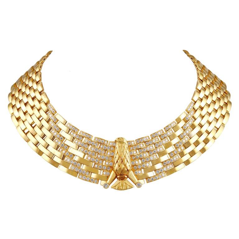 Cartier Gold Diamond Eagle Necklace 1