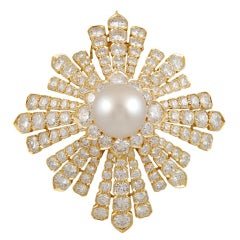 Van Cleef & Arpels Diamond Pearl Brooch