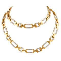 Cartier Diamond Gold Link Necklace