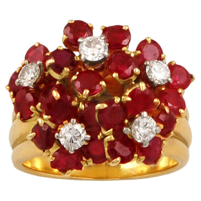 Van Cleef & Arpels Diamond Ruby Ring
