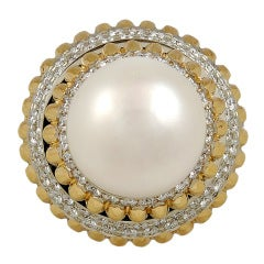 VAN CLEEF & ARPELS Diamond & Pearl Ring